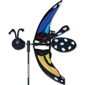 17 inch Lady Rainbow Monarch Garden Spinner
