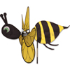 34 inch Bumble Bee Garden Spinner